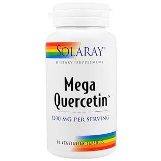 Solaray, Мега кверцетин, 1200 мг, 60 вегетарианских капсул
