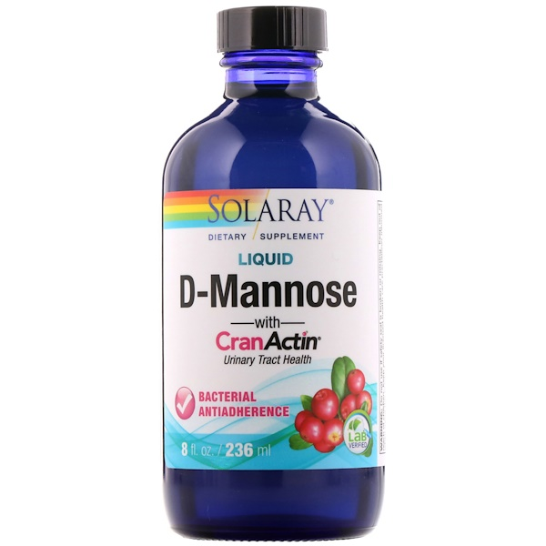 Solaray, Liquid D-Mannose with CranActin, 8 fl oz (236 ml) (Discontinued Item)
