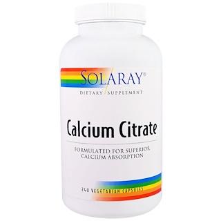 Solaray, Calcium Citrate, 240 Veggie Caps