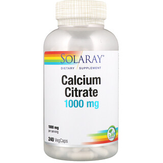 Solaray, Calcium Citrate, 1000 mg, 240 VegCaps