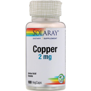 Соларай, Copper, 2 mg, 100 VegCaps отзывы