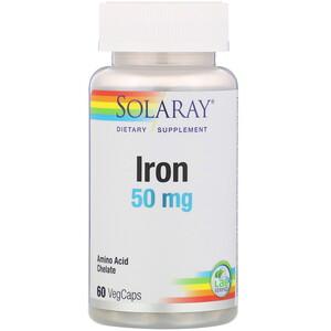 Соларай, Iron, 50 mg, 60 VegCaps отзывы покупателей