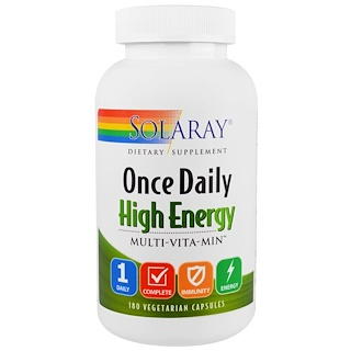 Solaray, Once Daily High Energy, Multi-Vita-Min, 180 Vegetarian Capsules