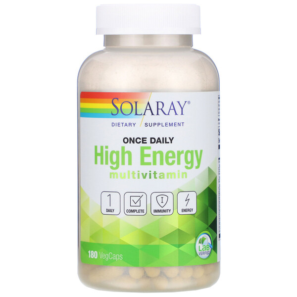 Once Daily High Energy, Multivitamin, 180 VegCaps