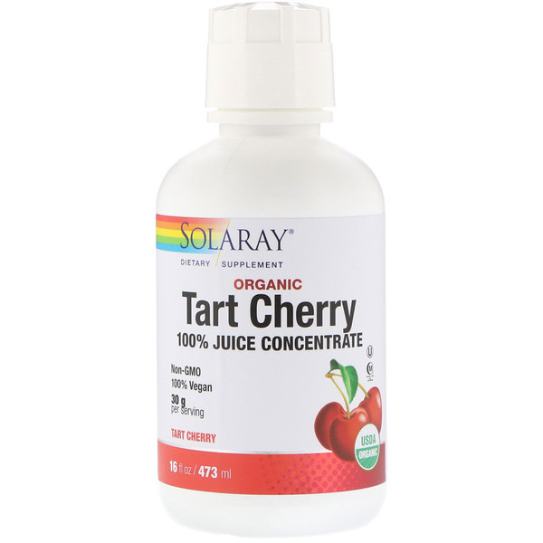 Solaray, Organic Tart Cherry, 100% Juice Concentrate, 16 fl oz (473 ml) (Discontinued Item)