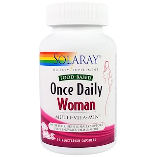 Solaray, Once Daily, Woman, Multi-Vita-Min, 90 Veggie Caps