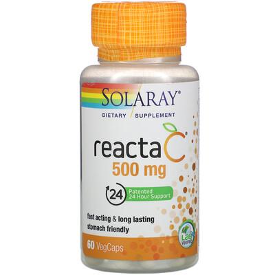 Solaray Reacta-C, 500 mg, 60 VegCaps