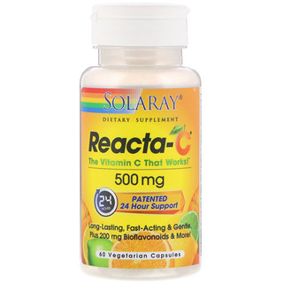 Solaray, Reacta-C, 500 mg, 60 Vegetarian Capsules