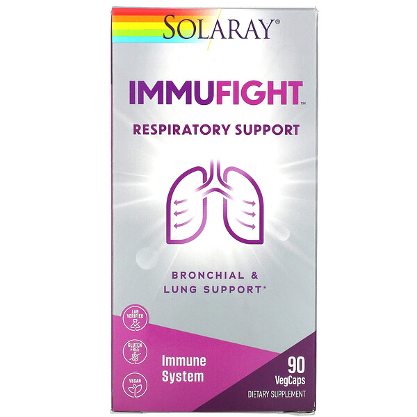 ImmuFight, Respiratory Support, 90 VegCaps