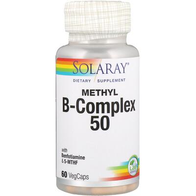 Фото - Метил B-комплекс 50, 60 вегетарианских капсул гамк 60 вегетарианских капсул