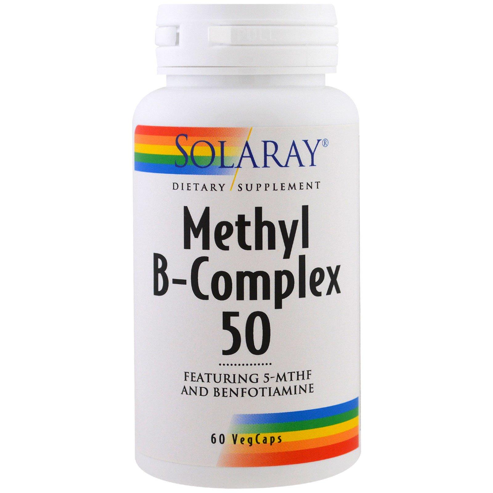 Solaray, Метил B-комплекс 50, 60 вегетарианских капсул