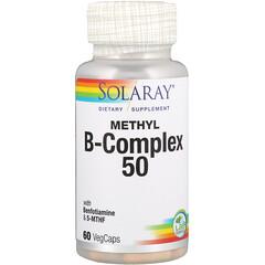 Solaray, 甲基複合維生素 B-50,60 粒素食膠囊