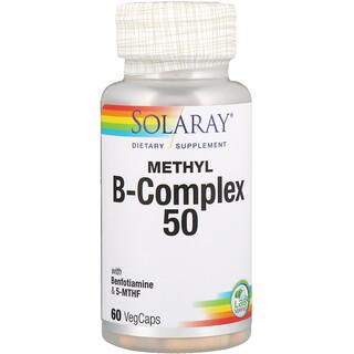 Solaray, Complexo B Metil 50, 60 Cápsulas Vegetarianas
