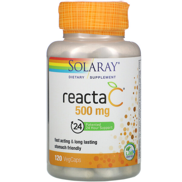 Reacta-C, 500 mg, 120 VegCaps