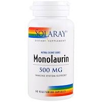 Монолаурин, 500 мг, 60 вегетарианских капсул - фото