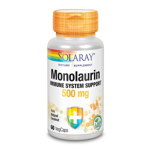Monolaurin, 500 mg, 60 VegCaps