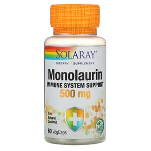 Соларай, Monolaurin, 500 mg, 60 VegCaps отзывы покупателей