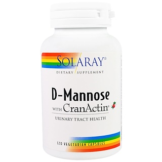 Solaray, D-Mannose with CranActin, 120 Vegetarian Capsules
