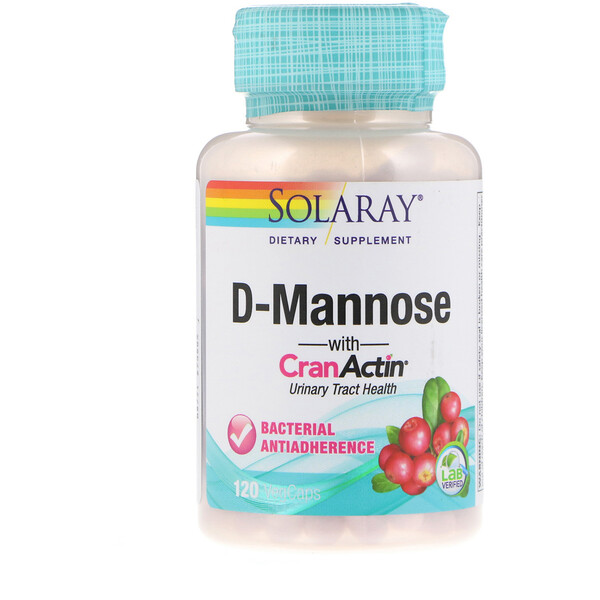 Solaray, D-Mannose with CranActin, Urinary Tract Health, 120 VegCaps