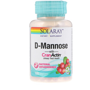 Соларай, D-Mannose with CranActin, Urinary Tract Health, 120 VegCaps отзывы покупателей