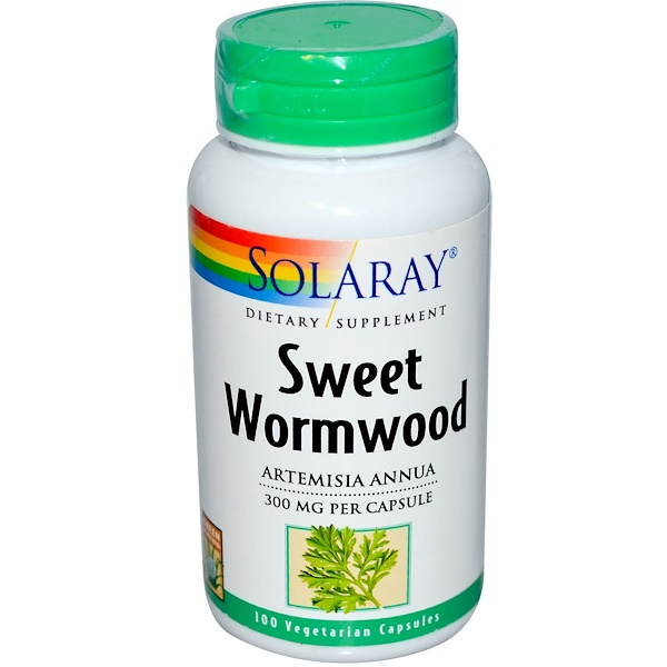 Solaray, Sweet Wormwood, 300 mg, 100 Veggie Caps (Discontinued Item)