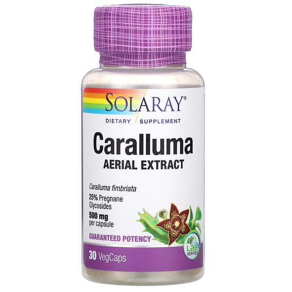 Solaray, Caralluma Aerial Extract, 500 mg, 30 VegCaps
