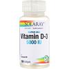 Solaray, Super Bio Vitamin D-3, 5,000 IU, 120 Softgels