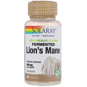 Соларай, Organically Grown Fermented Lion's Mane Mushroom, 500 mg , 60 VegCaps отзывы покупателей