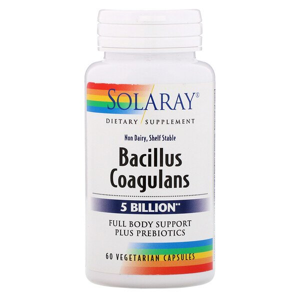Solaray, Bacillus Coagulans, 5 Billion,  60 Vegetarian Capsules