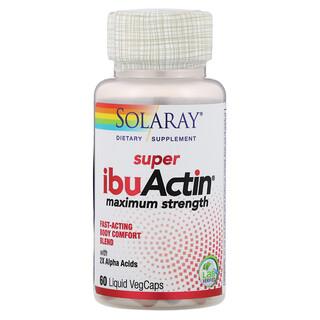 Solaray, Super IbuActin, Maximum Strength, 60 Liquid VegCaps