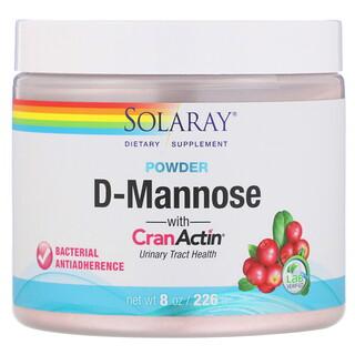 Solaray, D-Mannose with CranActin Powder, 2,000 mg, 8 oz (226 g)