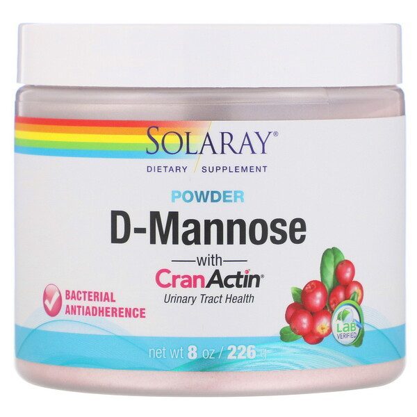 D-Mannose with CranActin Powder, 2,000 mg, 8 oz (226 g)