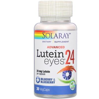 Купить Solaray Lutein Eyes 24 Advanced, 24 mg, 30 VegCaps