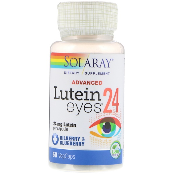 Solaray, Advanced, Lutein Eyes, 24 mg, 60 VegCaps
