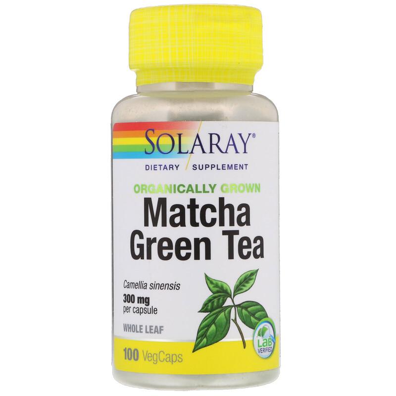 Solaray, Organically Grown Matcha Green Tea, 300 mg, 100 VegCaps