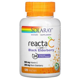 Solaray, Reacta C with  Black Elderberry, 120 VegCaps