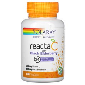 Соларай, Reacta C with  Black Elderberry, 120 VegCaps отзывы покупателей