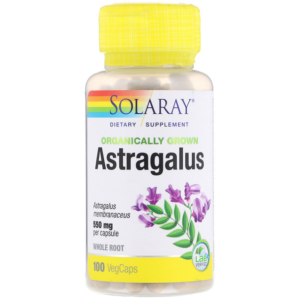 Organically Grown Astragalus, 550 mg, 100 VegCaps