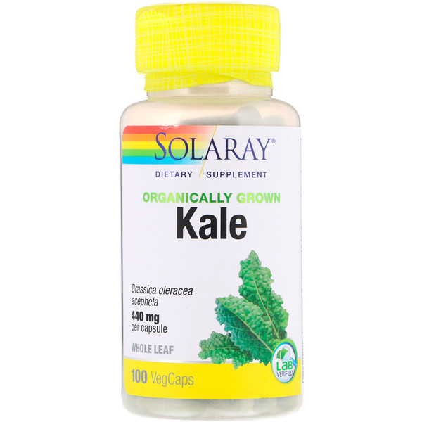 Solaray, Organically Grown Kale, 440 mg, 100 VegCaps