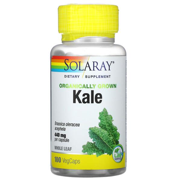 Solaray, Grünkohl aus biologischem Anbau, 440 mg, 100 pflanzliche Kapseln