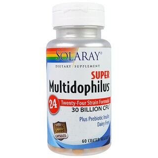 Solaray, Super Multidophilus 24, 30 Billion CFU, 60 Coated Vegcaps