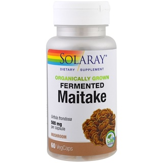 Solaray, Organically Grown Fermented Mitake, 500 mg , 60 Veggie Caps