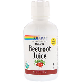 Solaray, Organic Beetroot Juice, 16 fl oz (473 ml)