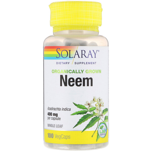 Solaray, Organically Grown Neem, 400 mg, 100 VegCaps
