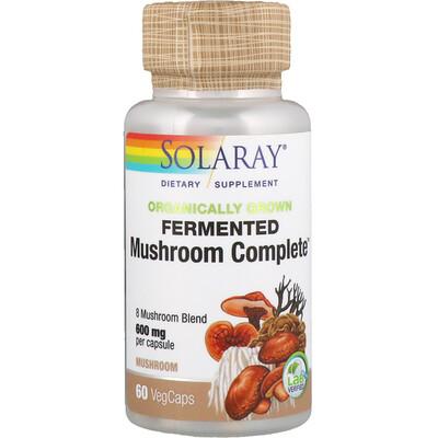 Купить Solaray Ферментированный комплекс органического происхождения Mushroom Complete, 600 мг, 60 капсул с растительной оболочкой