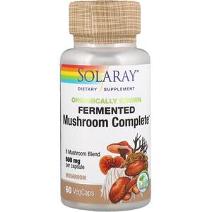 Соларай, Organically Grown Fermented Mushroom Complete, 600 mg, 60 VegCaps отзывы покупателей