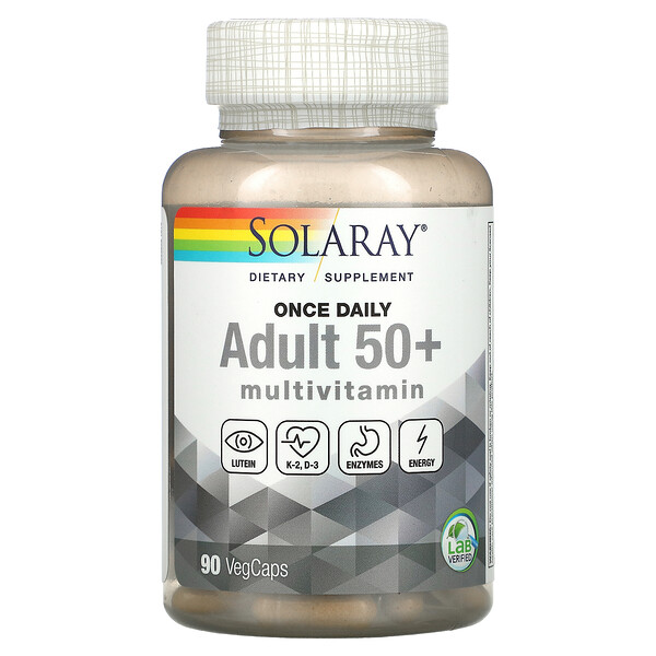 Once Daily, Adult 50+ Multivitamin,  90 VegCaps