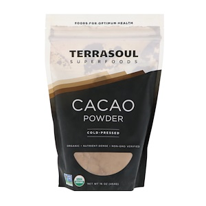 Terrasoul Superfoods, Cacao Powder, Cold-Pressed, 16 oz (454 g) отзывы покупателей