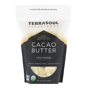 Terrasoul Superfoods, Cacao Butter, Cold-Pressed, 16 oz (454 g) отзывы покупателей
