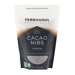 Terrasoul Superfoods, Cacao Nibs, Fermented, 16 oz (454 g)